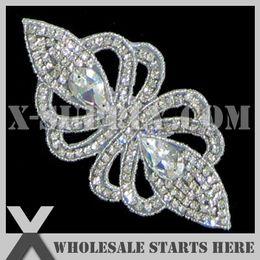 Wholesale Bridal Rhinestone Applique Iron On Beaded Patch for Custom Wedding Dress Decoration X1 RAT2188