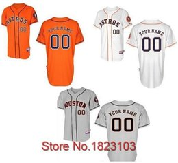 Wholesale 30 Teams Houston Astros Jersey Custom Astros Jersey Pesonalized Baseball Jersey Any Name Any Number Good Quality Fast Ship Out