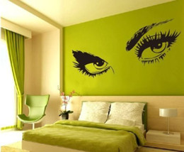 Wholesale Audrey Hepburn s Eyes Silhouette Wall Sticker Decals Home Decor Removable
