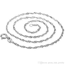 925 sterling silver items jewelry 45 cm corrugated wave chain wedding vintage hot charms new arrival