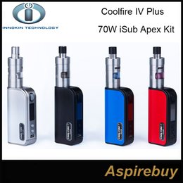 Wholesale 100 Authentic Innokin Coolfire IV Plus W iSub Apex Starter Kit W Cool Fire IV Plus Battery with ML iSub APEX Sub Ohm Tank iSub A Kit