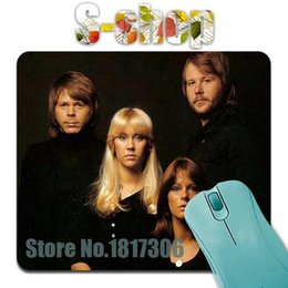 Wholesale ABBA print design team combination computer mousepad ergonomic computer mouse pad mat