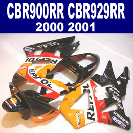 7 Gifts for HONDA CBR900RR fairing kit CBR929 2000 2001 black orange REPSOL CBR 929 RR CBR929RR fairings set HB4