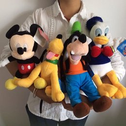 Wholesale Mickey mouse Donald duck GOOFy dog Pluto dog peluches plush soft toys best juguetes gift for kids son