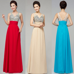 New Sexy Backless Rhinestone Dress Evening Dress Long Red Foreign Trade Dedding Dress Long Bridesmaid Fashion Womens Spring Wedding dresses