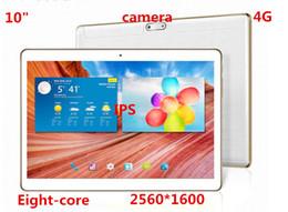 """Acheter en ligne Nouveaux écrans de téléphone-2016 Le nouveau 10 """"huit cœurs Tablet PC 4G appel téléphonique double carte 2560 * 1600 caméra HD Tablet PC IPS écran de navigation GPS et Tablet PC"""