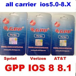 Wholesale newest Program gpp s Unlock card for iPhone S L1S3 chip ios ios x ios ios8 ios GSM G R SIM ATT VERIZON SPRING all carrier