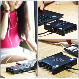 Wholesale New Arrival Top Quality XOX KS108 USB Audio Interface Online Singing Device High Definition Audio Mixer Sound Card I1578