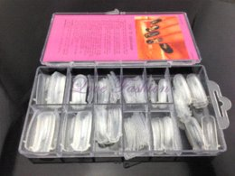 [JZJ-007] 100Pcs / Set (paquet avec boîte) Forme de système de clou double pour acrylique acrylique Nail Art Tip + Livraison gratuite à partir de ensemble acrylique double forme fabricateur