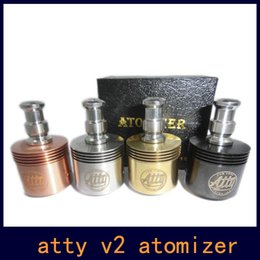 Tobh ATTY V2 Atomizer RDA Rebuildable atomizer tank with 510 Thread Fit all of the Mechanical Mod VS Patriot Omega Atomizer