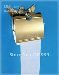 Wholesale mixer antique Swan design k GOLD roll holder with cover steel laundry tub