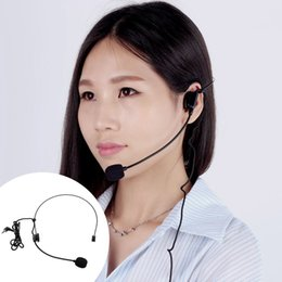 Wholesale Uni Directional Head mounted Headworn Headset Microphone Mic Flexible Wired Boom for Voice Amplifier Amp Loudspeaker