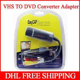 Wholesale Easycap DC60 USB Video TV DVD VHS Audio Creator Capture Adapter Support For Windows ME XP bit bit