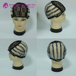 5pcs Small Medium Large machine made wig caps for making wigs with Strap On the Back