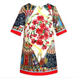 Wholesale Monsoon Customize Girl s Dress Spring Kid Dresses Tree Quarter Sleeve Flower Embroidery Party Dressy EMS J3244