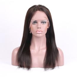 Descuento peluca recta sin cola peruana llena del cordón 10A Pelucas llenas del cordón del pelo humano 100% de la Virgen Pelucas rectas camboyanas camboyanas indias malasias del frente del cordón de Glueless peruano brasileño para las mujeres negras