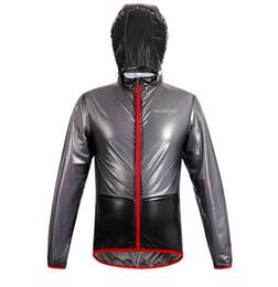 Vente en gros-Nouveaux Top Hommes Vêtements de sport en plein air ThinLightweight Imperméable à l'eau Imperméable Running Randonnée Bicyclette Vélo Veste de vélo Jersey Rain à partir de veste de cyclisme mince imperméable fabricateur
