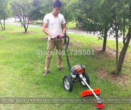 Wholesale Mower cart brush cutter petrol lawn mower stramework harvestable weeding machine lawn mower
