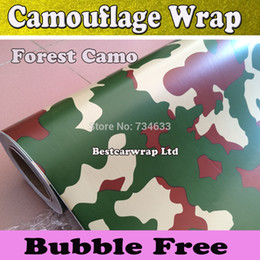 Forest Camo Wrap Green Camouflage Film Vinyl Wrap With Air Bubble Free Camo Forest Car Wrap Stickers Foile Size 1.52x30m Roll