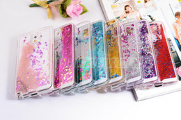 Wholesale iphone Colorful Moving Shining Stars Liquid Glitter Quicksand D Bling Phone Case Cover For Iphone s Plus Samsung S7 S6 edge
