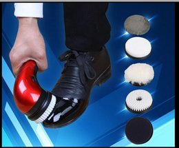 Wholesale Shoe polisher electric mini household portable Leather Polishing Equipment automatic clean machine