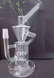 Wholesale New Recycler Glass Bong Hand made water pipe mm male
