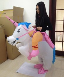 happy funny inflatable cosplay suit for halloween Christmas unisex one size fit all design adult inflatable unicorn costume