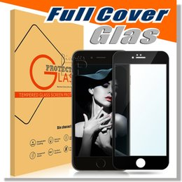 Wholesale IPhone s full cover glass Full Screen Tempered Glass for iPhone Plus s Plus Premium Oil Resistant Coated Glass