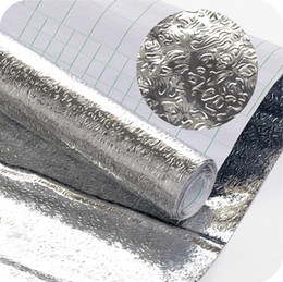 Wholesale Thick aluminum foil stickers waterproof pad cabinets kitchen table drawer mats oil self adhesive foil stickers foi JD25