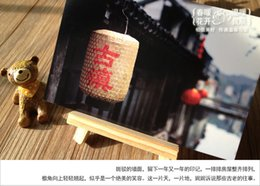 Wholesale Chinese postcard from Allen your friend from china with best blessing for you LOMO mini dessert card small card Greeting Cards