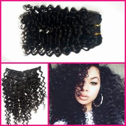 Virgin Remy Hair Clip In Human Hair Extensions Full head Set G-EASY deep wave deep curly 100% human hair fast shipping pls choose DHL
