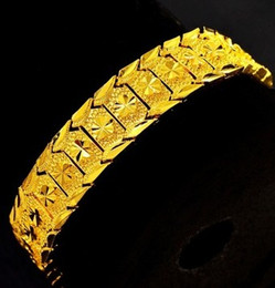 chaming yellow gold chain men's bracelet (pfmcgy88) rter