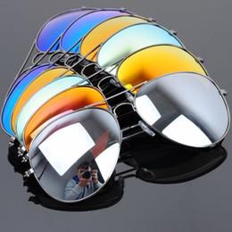 Promotion bleu argent Gratuit Navire 2015 Vente Designer bleu miroir Lunettes de soleil Hommes Argent Miroir Vintage Lunettes de soleil Lunettes Lunettes de soleil femmes mélanger les couleurs