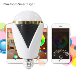 Wholesale Bluetooth Smart LED Speaker Bulb Intelligent RGB Light Bulb Music Player LED Lamp Waterproof APP Remote Control for Smartphones