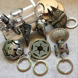 Wholesale 7 Design Children Star Wars Key buckle new Star Wars Airship key ring baby Keychain A