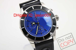 Hot Sale Luxury Swiss Brand Watches Quartz Chronograph SuperOcean Heritage Special Edition Mens Cassic Wristwatch Black Dial Leather Strap