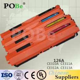 Wholesale P A Compatible CE310A CE312A CE311A A toner Cartridge For HP CP1025 Pro100 M175nw Color LaserJet Printer