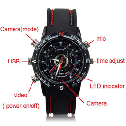 Wholesale hidden camera spy watch gb sport style mini camera watch voice audio recording spy watch cameras