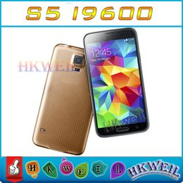 Wholesale S5 I9600 Android4 Cell Phone Dual Core test show Quad Core GB RAM GB ROM With Inch IPS Screen G Fingerprint Unlocked Phone