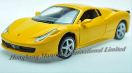 1:32 Alloy Diecast Car Model For TheFerari 458 Spider Collection Pull Back Toys Car With Sound&Light - Yellow   Red   White