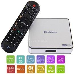 Wholesale ZIDOO X6 Pro Android TV Box RK3368 Quad Core G G AC Bluetooth D KODI Aluminium Smart TV Box IPTV Media Player