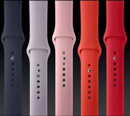 Wholesale 11 New colors For Apple Watch Band Red Orange Midnight Blue Walnut Stone Antique Fog Turquoise Vintage Rose Lavender Sport Silicone Band
