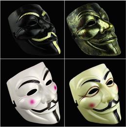 Wholesale V Mask Vendetta Party Mask Halloween Mask Party Face Mask Halloween Mask Super Scary For Vendetta Anonymous Adult Mask