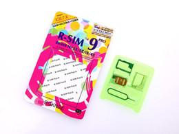 Original Unlock Card R-SIM 9 R sim 9 directly used for iphone 6 6plus 5s 5c 5 iOS6. X-7.X WCDMA GSM CDMA