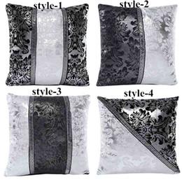Wholesale Hot Sales Simple Art Black White Splice Imitation leather Pillow Case PX231 Sofa Bed Car Cushion Cover cm cm