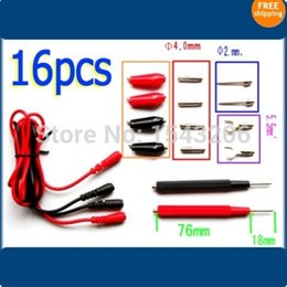 Wholesale set cm Multifunction Digital Multimeter Probe Alligator Clip Test Leads Cable