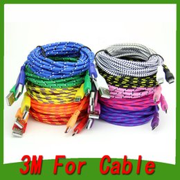 Wholesale Best selling FT FT FT Extension Micro USB Fiber Braided Data Charger Cable Extra Long Fabric Knit Charging Cord For Mobile p