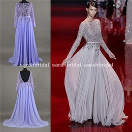 Wholesale Elie Saab Haute Couture Prom Evening Dresses Sheer Crew Neck High Fashion Runway Arab Hot Sexy Wedding Party Wear Formal Cocktail Gowns