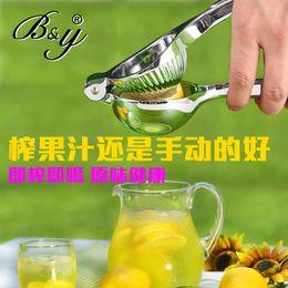 Wholesale B amp amp Y stainless steel household manual juicer lemon juicer baby mini pinch complementary fruit juice machine