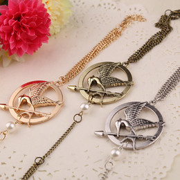 hot movie the hunger games charms pearl link bracelet handmade Mockingjay Slave bracelets bangles women in stock